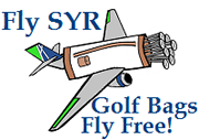 Fly SYR - Golf Bags Fly Free!