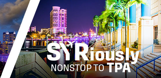 SYRiously Nonstop to Orlando Area: MCO & SFB