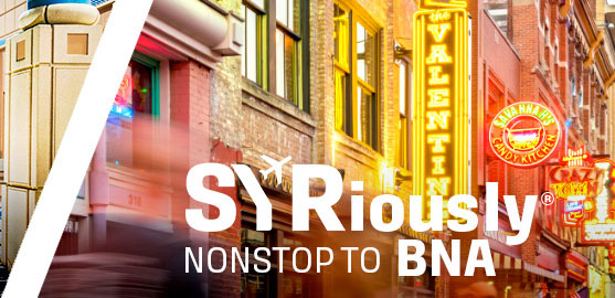 Face coverings now required at SYR: TSA requires proper wearing of face masks on airport property, per federal law. Face masks are to be worn at all times. Failure to comply may result in penalties.