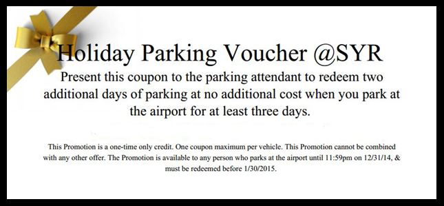 Holiday Parking Voucher
