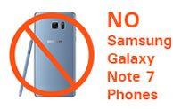 No Samsung Galaxy Note 7 Phones